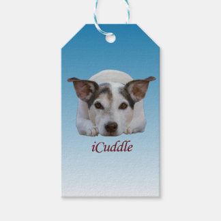 Étiquettes-cadeau Chien mignon de Jack Russel d'iCuddle