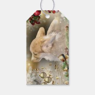 Étiquettes-cadeau Chiot de corgi de Noël