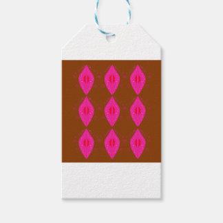 Étiquettes-cadeau Choco rose de mandalas de conception