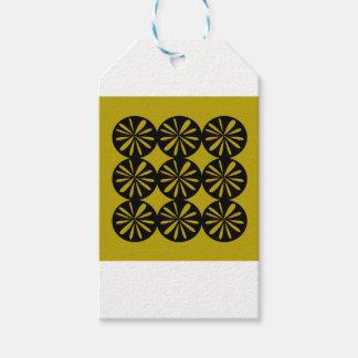 Étiquettes-cadeau Citrons de conception sur l'or