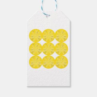 Étiquettes-cadeau Citrons d'or sur le blanc