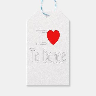 Étiquettes-cadeau coeur i pour danser W