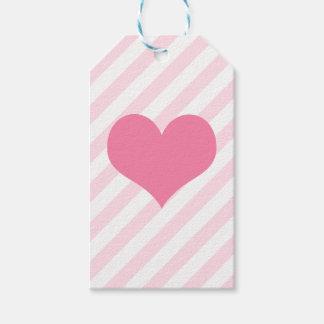 Étiquettes-cadeau Coeur rose-clair