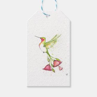 Étiquettes-cadeau colibri de queue de fleur