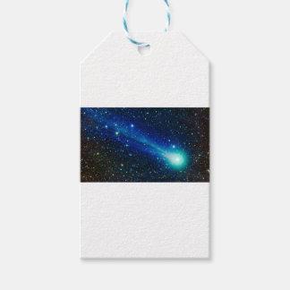 Étiquettes-cadeau Comète bleue