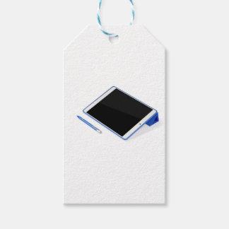 Étiquettes-cadeau Comprimé sur le support et le stylo numérique