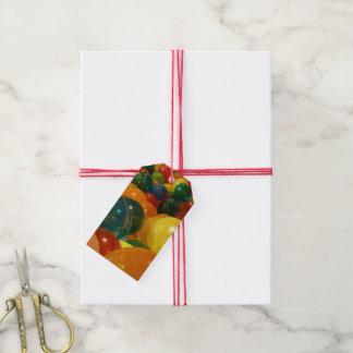 Étiquettes-cadeau Conception colorée de partie de ballons