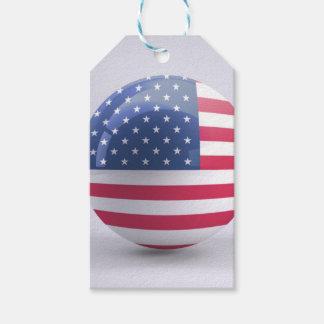 Étiquettes-cadeau conception de cercle d'Etats-Unis-drapeau