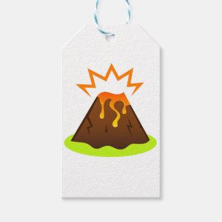 Étiquettes-cadeau Conception de pièce d'enfants de lave d'éruption