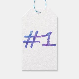 Étiquettes-cadeau conception pourpre de l'eau-couleur #1