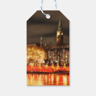 Étiquettes-cadeau Copenhague, Danemark la nuit