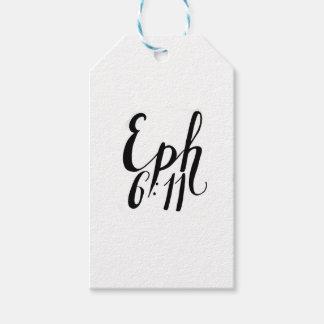 Étiquettes-cadeau Copie de citation de 6h11 d'Ephesians