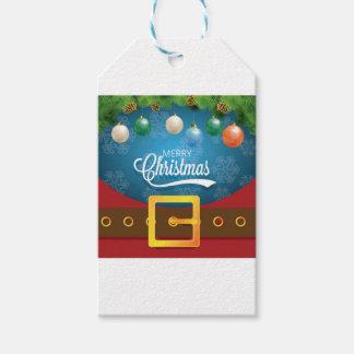 Étiquettes-cadeau Costume de Père Noël de Joyeux Noël