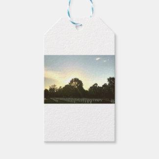 Étiquettes-cadeau Coucher du soleil #1