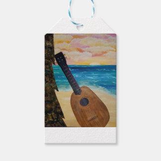 Étiquettes-cadeau coucher du soleil d'Hawaï