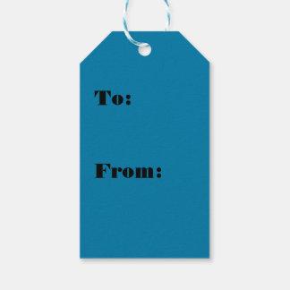 Étiquettes-cadeau Couleur hawaïenne de bleu de surf
