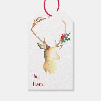 Étiquettes-cadeau Coup Tang de renne
