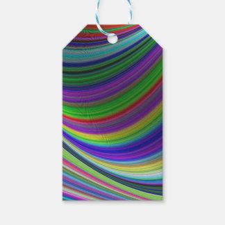 Étiquettes-cadeau Courbes de couleur