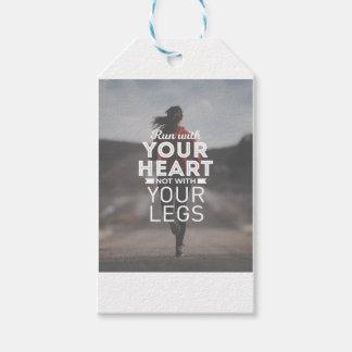 Étiquettes-cadeau Courez avec votre coeur