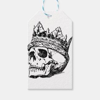 Étiquettes-cadeau Couronne de crâne