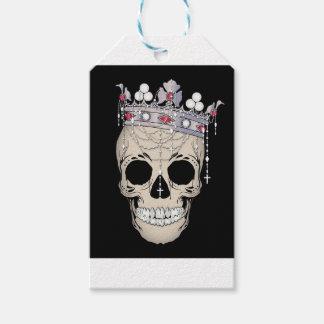 Étiquettes-cadeau Couronne d'horreur de Halloween de cadre d'os de