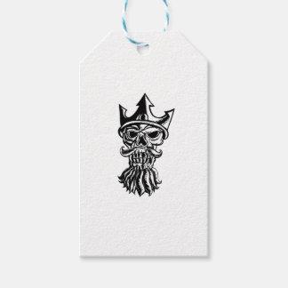 Étiquettes-cadeau Crâne de Neptune Sratchboard