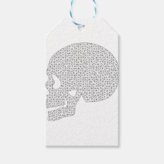 Étiquettes-cadeau Crâne de Wireframe