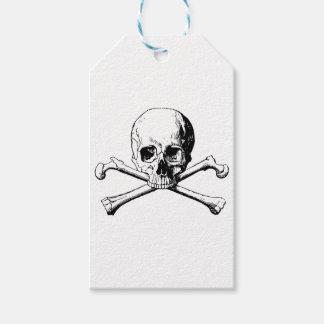 Étiquettes-cadeau Crâne d'os croisés