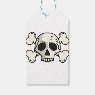 Étiquettes-cadeau Crâne et os croisés