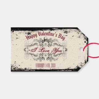 Étiquettes-cadeau Crâne victorien vintage
