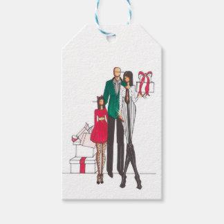 Étiquettes-cadeau Cravates de famille