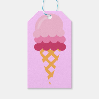 Étiquettes-cadeau Crème glacée de fraise