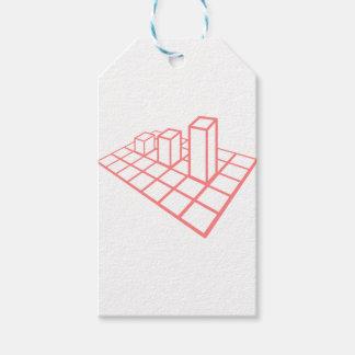 Étiquettes-cadeau Croissance de diagramme