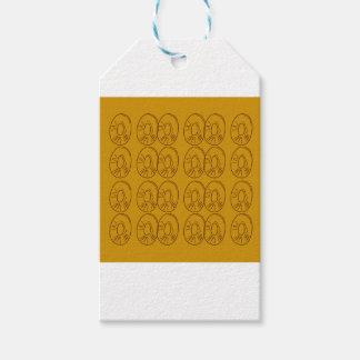 Étiquettes-cadeau Cru d'or de citrons de conception