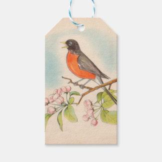 Étiquettes-cadeau Dessin vintage de Robin