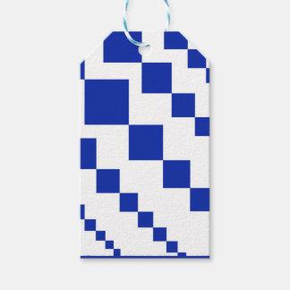 Étiquettes-cadeau Diamants descendants bleus audacieux