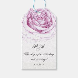 Étiquettes-cadeau Doucement rose de rose épousant l'étiquette