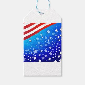 Étiquettes-cadeau Drapeau américain
