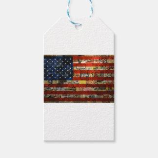 Étiquettes-cadeau Drapeau américain Amérique des Etats-Unis de