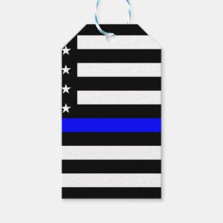 Étiquettes-cadeau Drapeau américain mince de Blue Line
