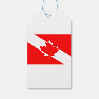 Étiquettes-cadeau Drapeau canadien de plongeur autonome