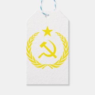 Étiquettes-cadeau Drapeau de guerre froide de Communiste
