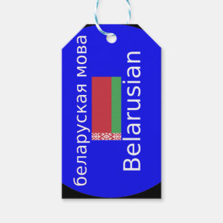 Étiquettes-cadeau Drapeau du Belarus et conception de langue