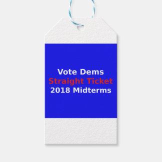 Étiquettes-cadeau Élections à moyen terme de Démocrate de vote en