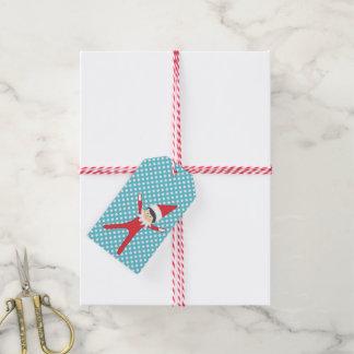 Étiquettes-cadeau Elf sur l'étiquette de cadeau
