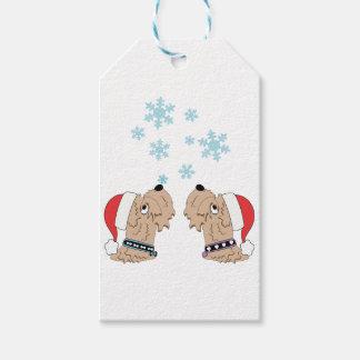 Étiquettes-cadeau Emballage blond comme les blés de Noël de Terrier