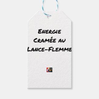 Étiquettes-cadeau ÉNERGIE CRAMÉE AU LANCE-FLEMME - Jeux de mots