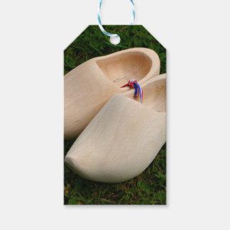 Étiquettes-cadeau Entraves en bois néerlandaises