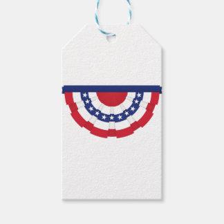 Étiquettes-cadeau Étamine de drapeau américain