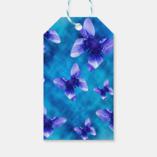 Étiquettes-cadeau Été bleu de papillon